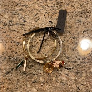 🌸 NWT J.Crew Bangles with Charms 🌸